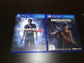 Used PS4 Uncharted 4 & 5