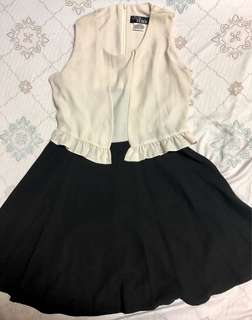 Black and White semi-formal dress