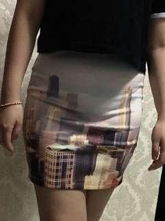 Pullnbear rok skirt span