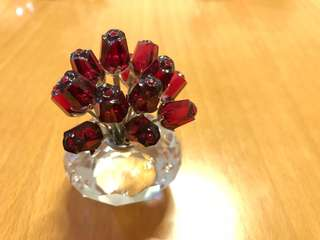 Swarovski red roses