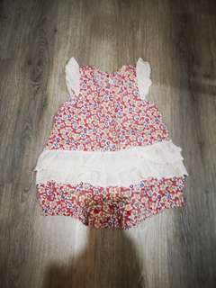 Baby Girl Flower Romper
