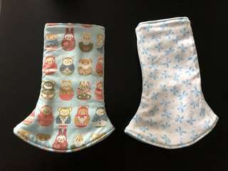 Handmade reversible tula drooling pads (comfort for your baby)