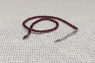Red Garnet Anklet