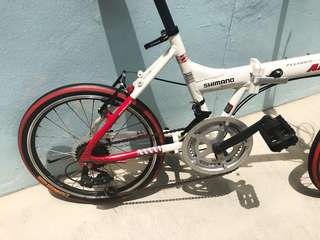 Foldable Bicycle with aluminium frame & Shimano Gears