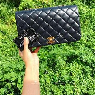 Chanel Vintage 黑色羊皮 Full Flap Bag