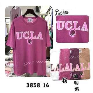 🚚 UCLA字母配色大學短T