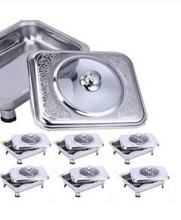 Food warmer with lid 6pcs