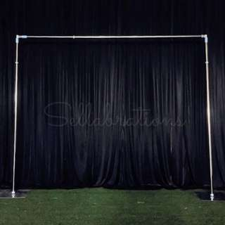 [Sellabrations] Fairy Lights Wedding Arch Heavy Duty Backdrop Stand 3m x 3m
