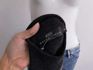 Auth Balenciaga grey sweater top