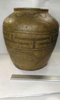 舊青瓷酒瓶