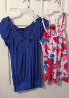 2 Summer Tops Bundle - Size Small/Medium