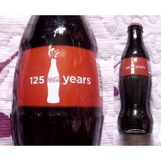 11年美國慶祝可口可樂誕生125週年紀念玻璃樽一枝