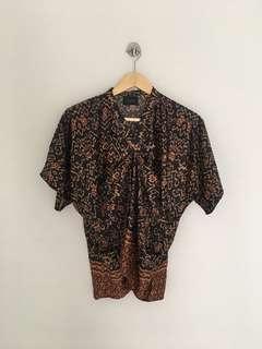 Blouse Motif Batik BASA All Size fit to L