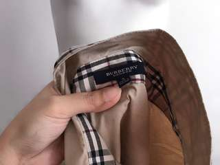 Auth Burberry brown collared top