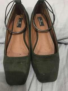 Olive Green Flats