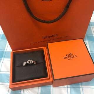 Hermes 純銀 戒指 介指