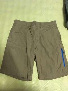 🚚 二手美品 Nike 卡其短褲 側拉鍊 藍色 34腰