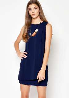 Love and bravery Navy Foldover Dress