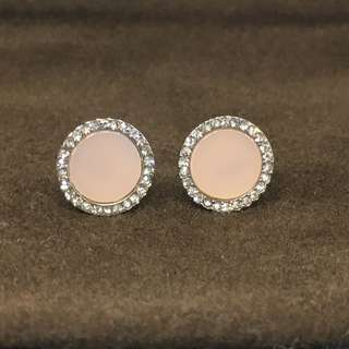 Michael Kors Sample Earrings 粉紅色配銀色閃石耳環 配原裝防塵袋