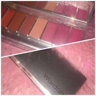 Lip palette wardha (warna pinky peach) note : baru 1x pake