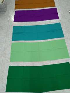 5 new pieces of multi colored fabric