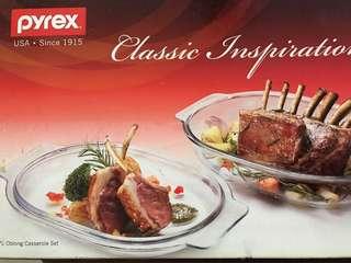 Pyrex 1.7L Oblong Casserole set