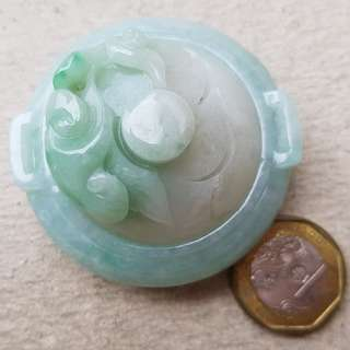 RESERVED Certified Type A Jadeite Incense Burner Display Green Jade Ruyi 如意香炉