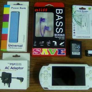 PSP full set with 40 game & q month WARRANTY (K)