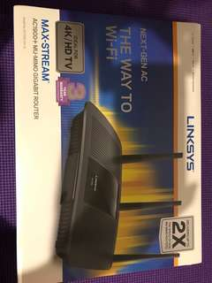 Linksys max stream ea7500 ac1900+ wireless router