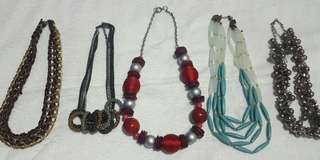 Assorted Necklaces (5 for the price of 1)