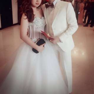 Gown and tuxedo for rent