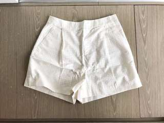 全新 Kate Spade Saturday laser cut shorts 短褲