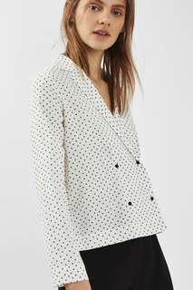 TOPSHOP Double Breasted Blouse