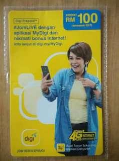 DiGi RM100 Reload Card