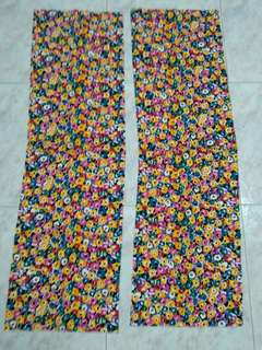 2 new pieces of colorful fabric