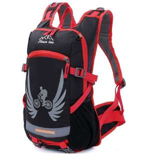 Cleverbees Cycling Backpack Bag - Black/Red