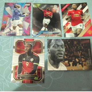 Romelu Lukaku Topps/Panini trading cards for trade/sale (Lot of 5 cards)