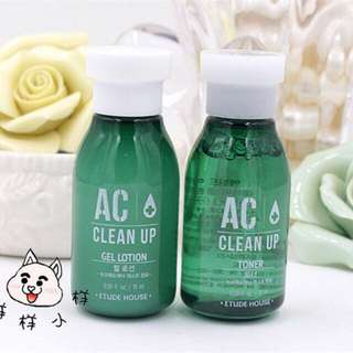 Etude House Ac Clean up Toner 15ml+ Gel lotion 15 ml