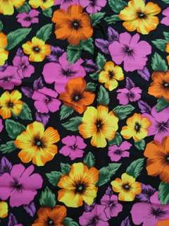 Colorful floral fabric