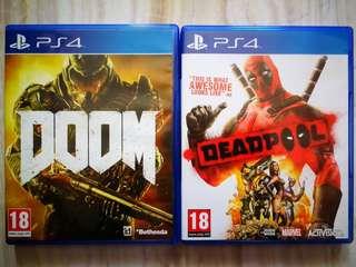 PS4 Games - Deadpool & Doom