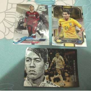 Roberto Firmino Topps/Panini trading cards for trade/sale (Lot of 3 cards)