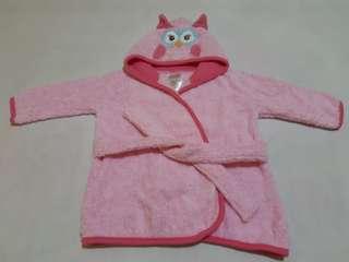 Bathrobe w/ Owl Hoodie (Pink)