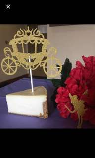 Carriage cake topper