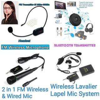 High Quality Wired Wireless 2in1 Handheld Microphone Mic Receiver System