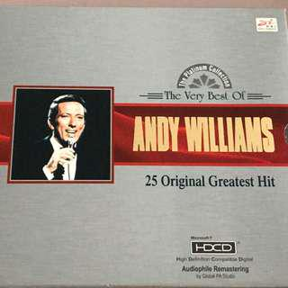 The Very Best of Andy Williams 25 Original Greatest Hits CD HDCD