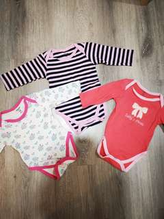 Carter's Baby Girl Rompers Set