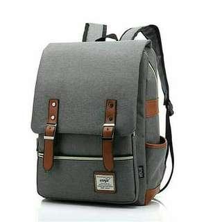 Korean retro backpack size L / tas import sekolah, kuliah ,kantor