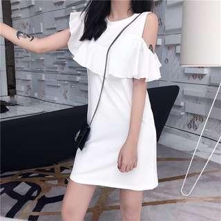 Basic Open Shoulder Dress