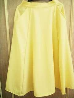 MEG Long Light Yellow Skirt
