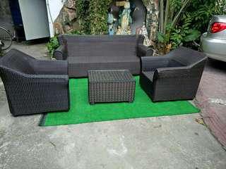 Brandnew sofa set with center table w/ glass